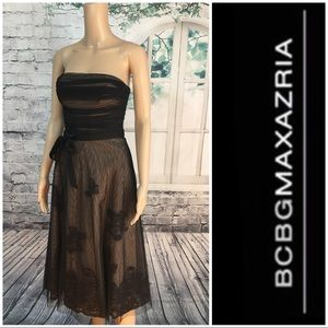 Vintage Inspired BCBG Maxazria Strapless Dress